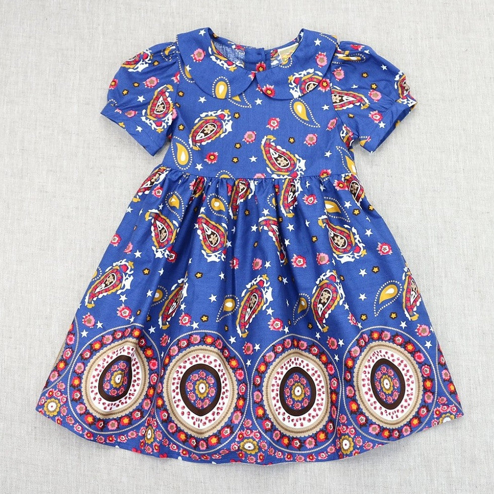 Pre-Order Blue Paisley Dress