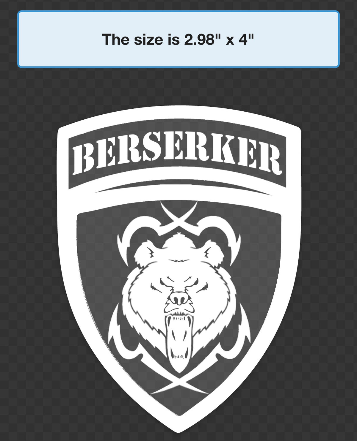 Berserker Crest Clear Sticker