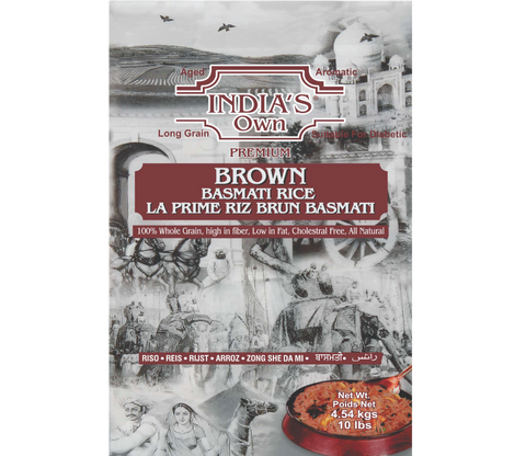 India's Own Premium Brown Basmati Rice 10lbs