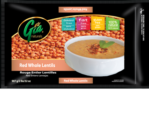 Red Whole Lentils - 12 x 2lbs