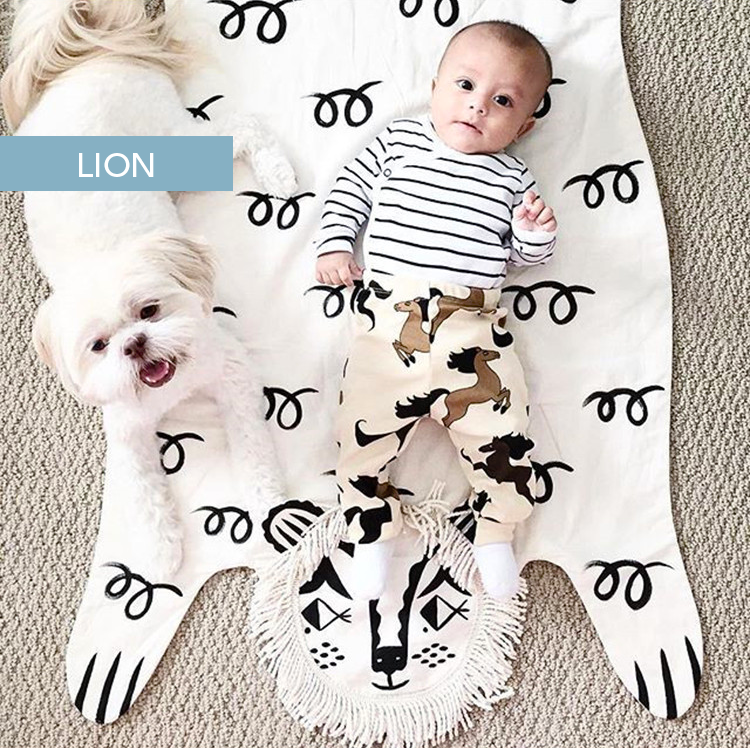 Animal Tiger Warm-Blanket/ Baby Play-Mat (100% Cotton)