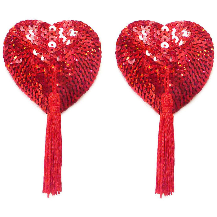 Bristol Rose Red Heart Pasties