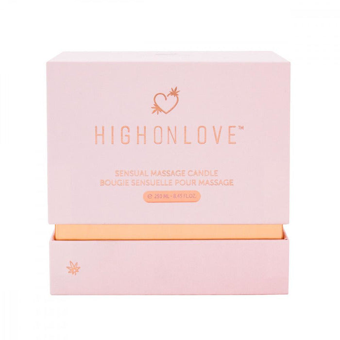 Rosebud Soy-based Massage Candle Candle High On Love