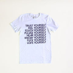 Love Yourself Tee Shirt Wild Flower Small White