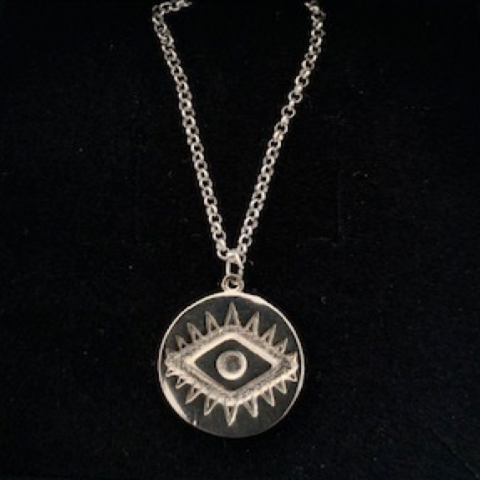 Evil Eye Necklace in Silver
