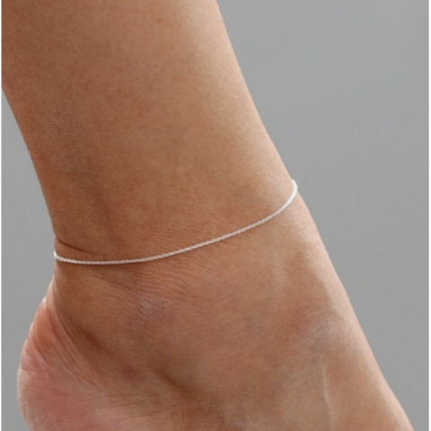 Barely There Chain Anklet in Sterling Silver