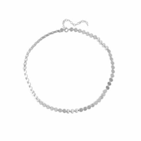 Coin Anklet in Sterling Silver