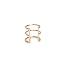 Delicate Caged Ear Cuff in Gold from Bing Bang New York