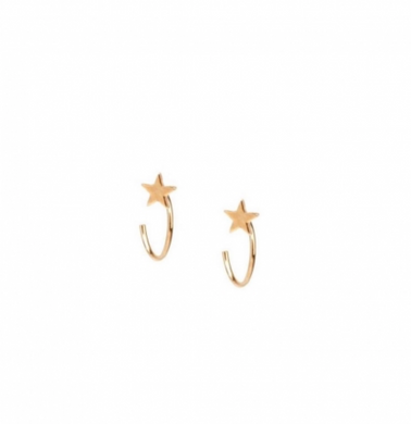 Little Star Huggie Earrings in Gold