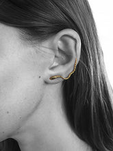 Snake Ear Climber in sterling silver