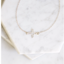 Sacred Cross Anklet in Sterling Silver