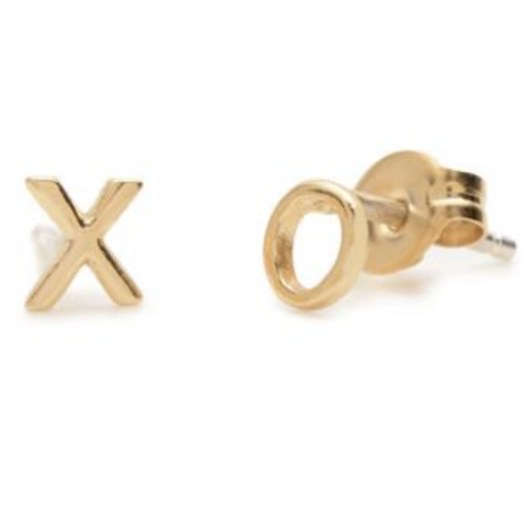 XO Gold Studs by Bing Bang