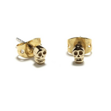Tiny Gold Skull Stud by Bing Bang