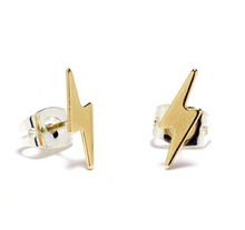 Lightening Bolt Silver Stud by Bing Bang