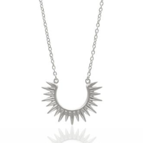 Radiance Spike Silver Necklace by Silk and Steel