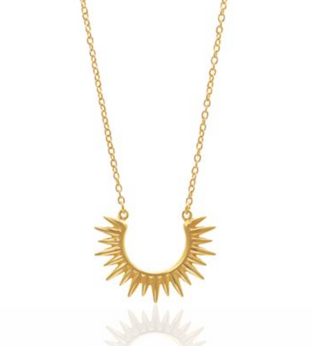 Radiance Spike Gold Necklace by Silk and Steel
