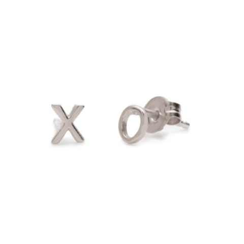 XO Silver Studs by Bing Bang