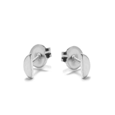 Half Moon Silver Studs by Bing Bang