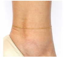 Barely There Chain Anklet in Gold