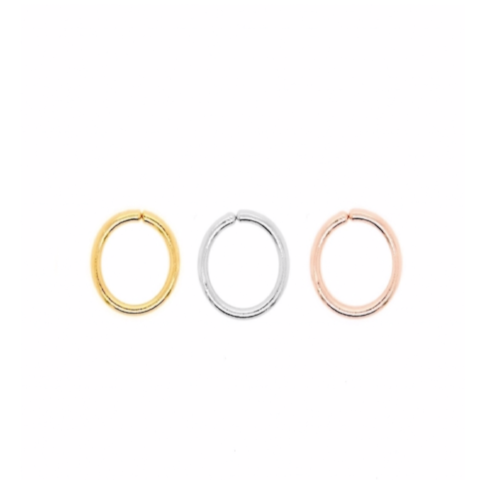 Petti Hugging Sleeper Hoop Earrings in Rose Gold