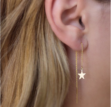 Star Threader Earrings in Gold