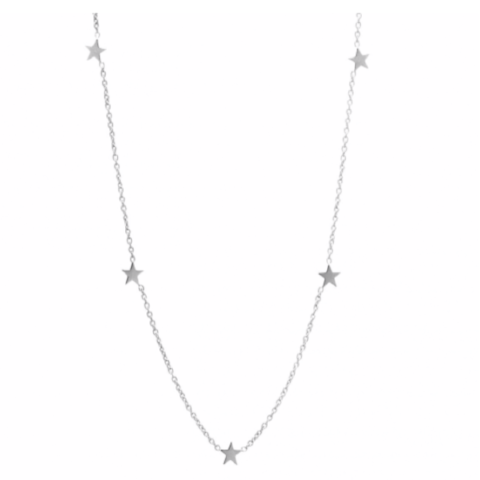 Superstar Choker Necklace in Sterling Silver