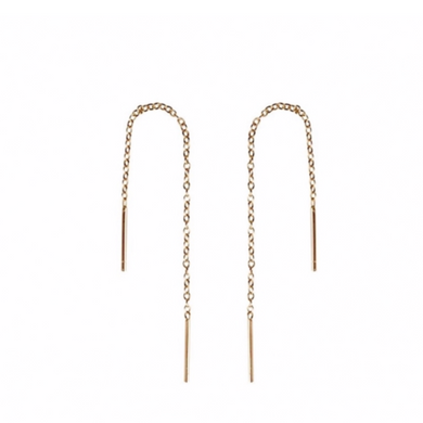 Minimal Ear Threader in Gold