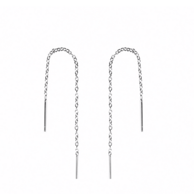 Minimal Ear Threader in Sterling Silver