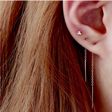 Minimal Ear Threader in Rose Gold