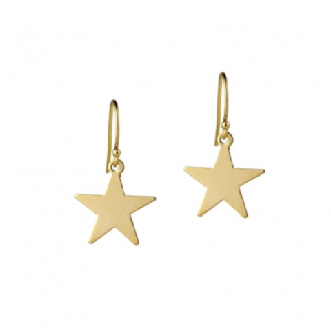 Star Drop Earrings Gold Filled