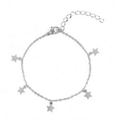 Star Bright Anklet in Sterling Silver