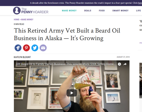Permafrost Beards Alaskan Made Beard and Mustache Products. Keep Your Facejacket On!