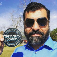 Permafrost Beards Alaskan Beard Oil and Beard Balm, Made In Fairbanks Alaska, men's grooming products mustache wax too. Where to buy Permafrost Beards products. Nine Line.