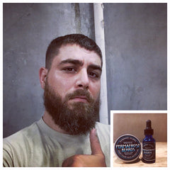 Permafrost Beards Alaskan Beard Balm Made in Fairbanks Alaska handcraft all natural beard and mustache care products. Keep Your Facejacket On