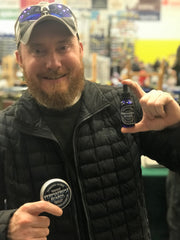 Permafrost Beards Alaskan Beard Oil and Beard Balm with a guitar pick in the tin. Made in Fairbanks Alaska USA, proudly worn after vigorous testing by Alaskans. Get the best beard products in the world here.