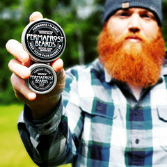 Permafrost Beards Alaskan Beard Balm and Oil. Made In Alaska beard products and mustache wax. Where to buy beard products in Alaska. Best beard care products. Become beard famous.