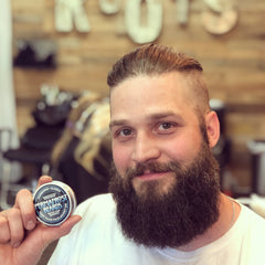 Permafrost Beards Alaskan Beard Balm and Beard Oil Made In Fairbanks Alaska. Roots Hair Studio see Sherri for a great barber. Mustache wax and Permafrost Beards Beard Wash too.