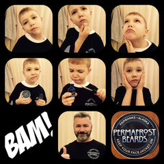 Permafrost Beards Alaskan Beard Oil and Beard Balm All natural men's grooming mustache wax Made In Fairbanks Alaska Keep Your Facejacket On