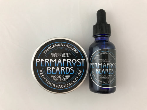 Matching Permafrost Beards Beard Balm and Oil Set