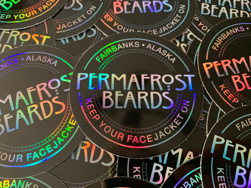 Permafrost Beards Holographic Sticker