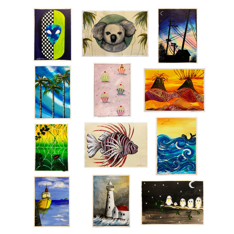 School Term 12 Pack - Online Art Classes