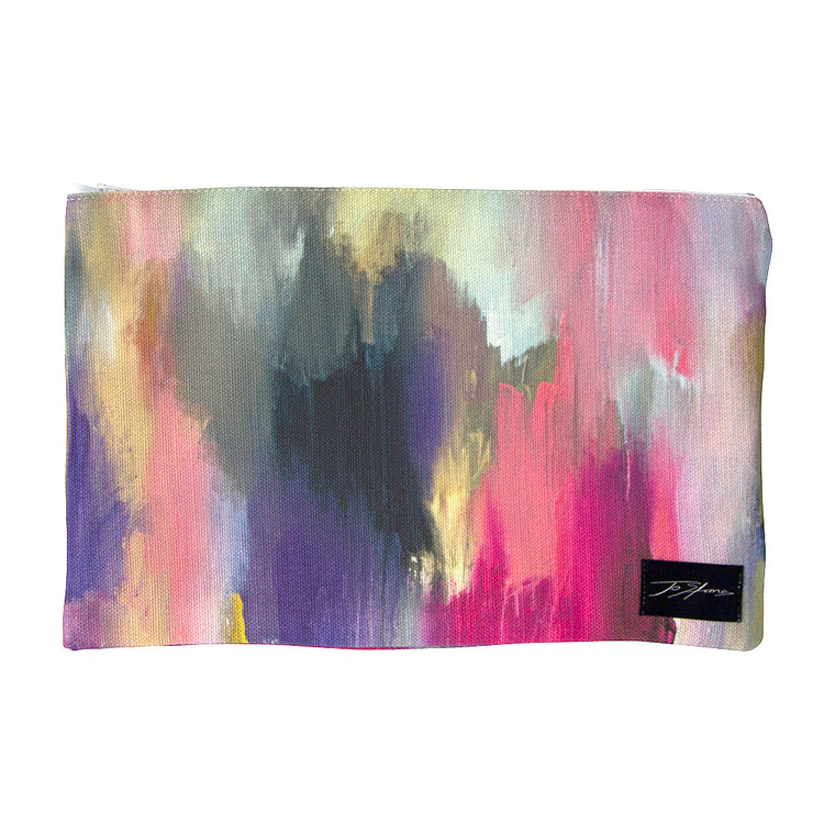 Awakenings Linen Accessory Pouch / Clutch Purse
