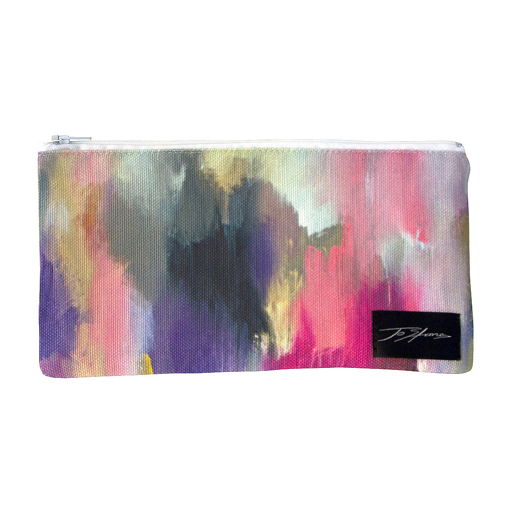 Awakenings Linen Accessory Pouch / Clutch Purse - Jo Stanes