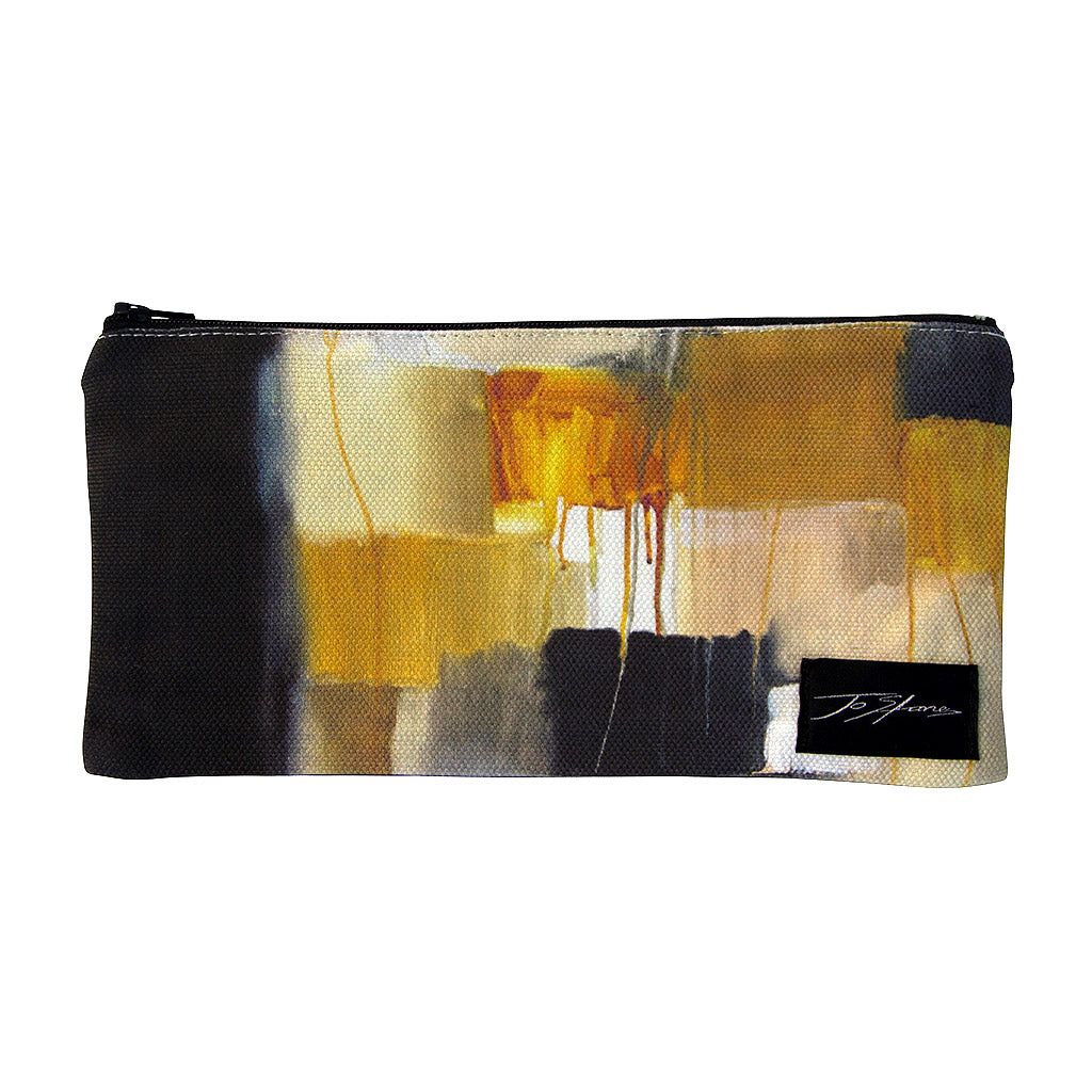 Cubism Linen Accessory Pouch / Clutch Purse - Jo Stanes