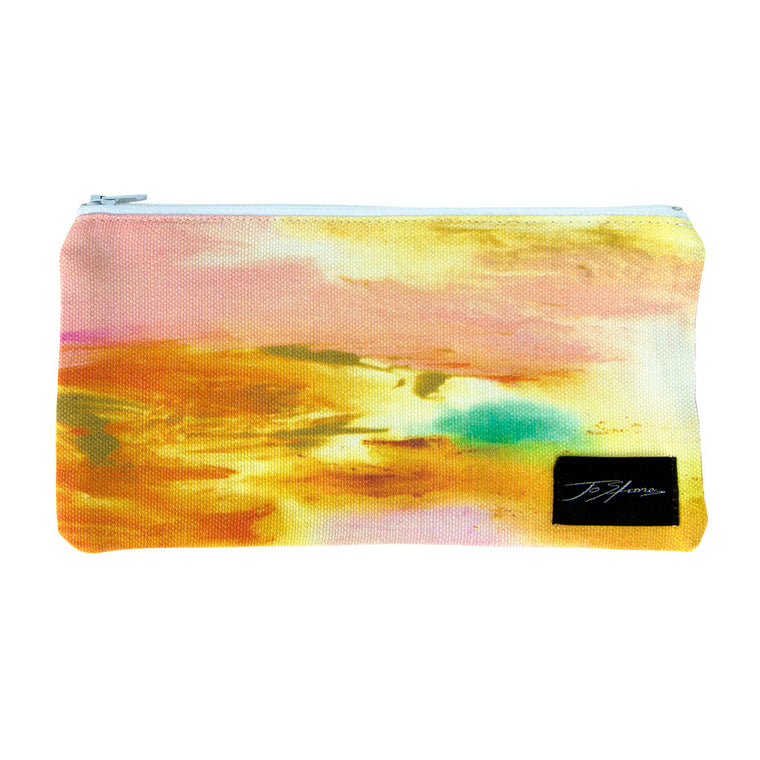 Entrustment Linen Accessory Pouch / Clutch Purse - Jo Stanes