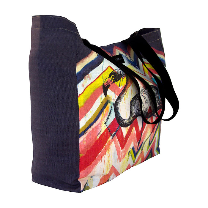 Flamingo Linen Weekender Bag - Jo Stanes