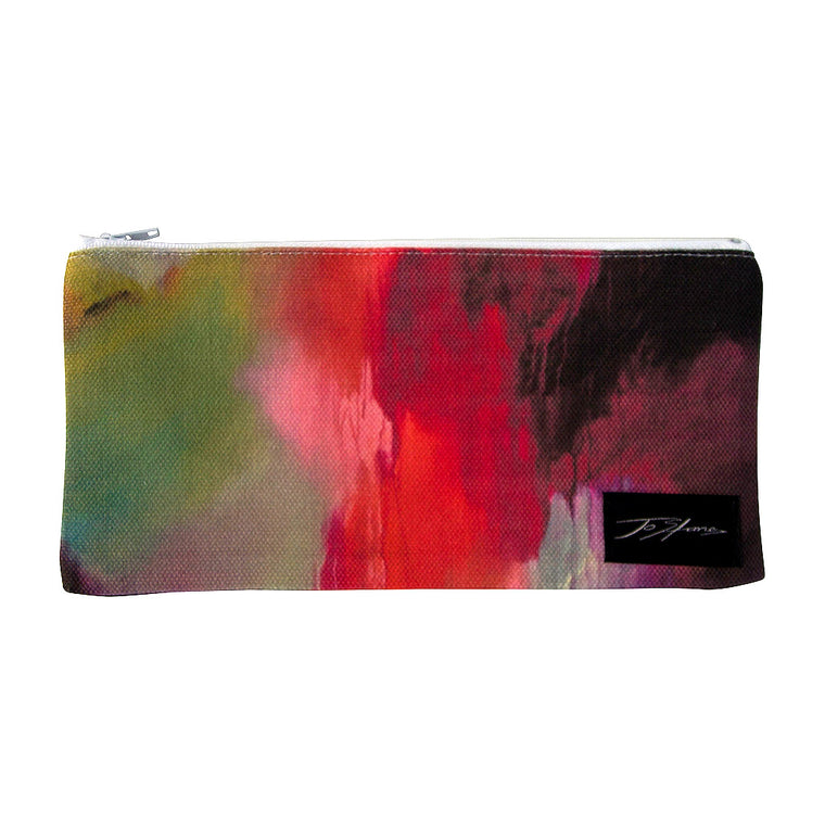 Joyful Linen Accessory Pouch / Clutch Purse - Jo Stanes