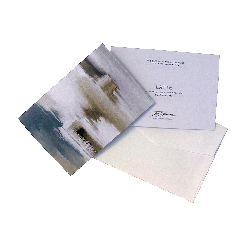 Latte Greeting Cards - Jo Stanes
