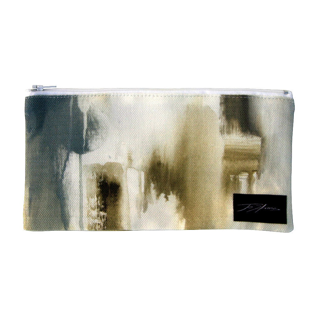 Latte Linen Accessory Pouch / Clutch Purse - Jo Stanes