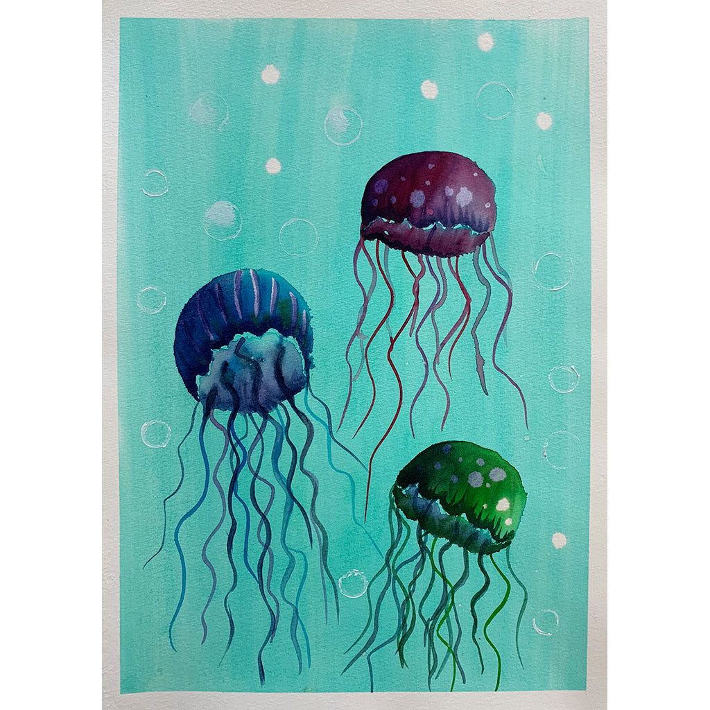 Painting Jellyfish - Online Art Class